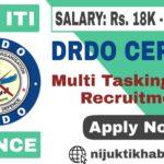 DRDO-CEPTAM MTS Recruitment 2019
