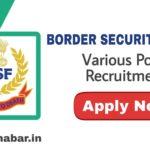 BSF Various Posts Recruitment 2020