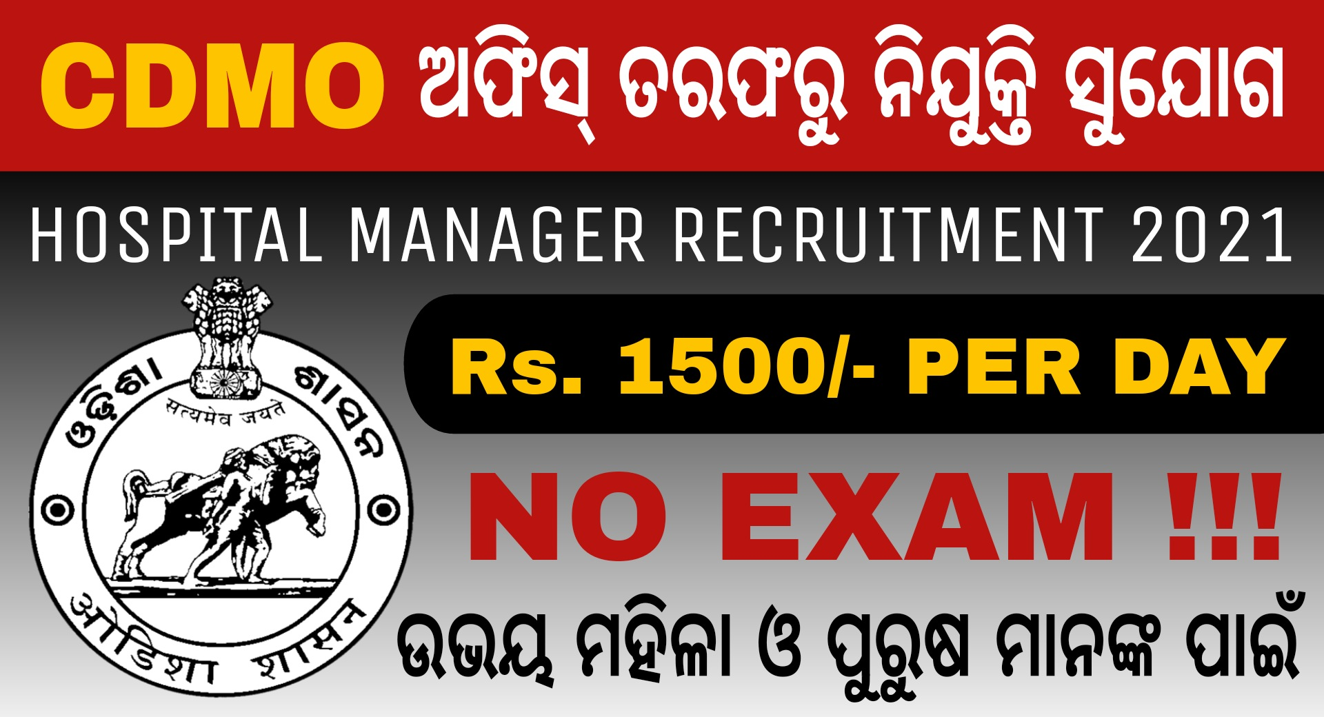 Kalahandi CDMO Office Recruitment 2021 – Jobs in Odisha
